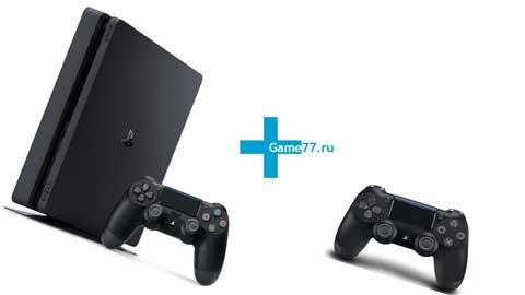 Комплект Sony PlayStation 4 Slim 1 tb + 2 джойстика