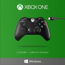 Controller Wireless Black + Cable for Windows (XboxOne)